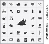 simple cooking icons set....