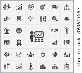simple business strategy icons...