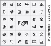simple business icons set.... | Shutterstock .eps vector #393619603