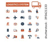logistics system icons  | Shutterstock .eps vector #393621133