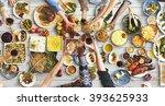 friends happiness enjoying... | Shutterstock . vector #393625933