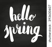 hello spring lettering design... | Shutterstock .eps vector #393630607