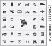 simple delivery icons set....