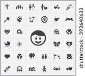 simple happiness icons set....