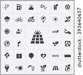 simple green energy icons set....