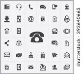 simple contact us icons set....