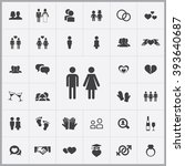 simple couple icons set.... | Shutterstock .eps vector #393640687