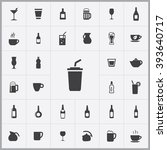 Simple drink icons set. Universal drink icons to use for web and mobile UI, set of basic drink elements | Shutterstock vector #393640717