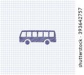 flat vector icon. scribble blue ... | Shutterstock .eps vector #393642757