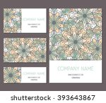 set of business card  banner... | Shutterstock .eps vector #393643867
