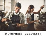 barista parepare coffee working ... | Shutterstock . vector #393646567