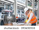electrical engineer working at... | Shutterstock . vector #393650533