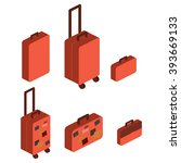 travel suitcase | Shutterstock .eps vector #393669133