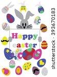 easter symbol vector... | Shutterstock .eps vector #393670183
