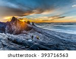 mount kinabalu  near low's peak ... | Shutterstock . vector #393716563