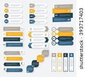 set of vector infographics... | Shutterstock .eps vector #393717403