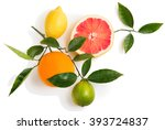 Top View Of Citrus Fruits ...