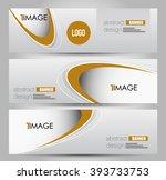 banner template. abstract... | Shutterstock .eps vector #393733753