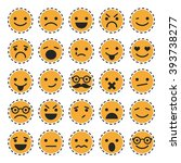 emoticons. set of characters in ... | Shutterstock .eps vector #393738277