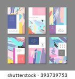 set of artistic creative... | Shutterstock .eps vector #393739753