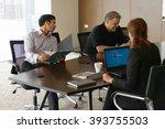 business meeting office | Shutterstock . vector #393755503