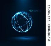 abstract  sphere shape of ... | Shutterstock .eps vector #393756433