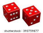 pair of dice   nine  isolated... | Shutterstock . vector #393759877