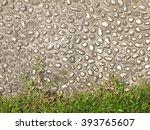 stone floor and grass background   Shutterstock . vector #393765607
