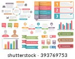 set of infographic elements  ... | Shutterstock .eps vector #393769753