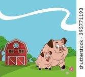 farm animals cartoons  vector... | Shutterstock .eps vector #393771193