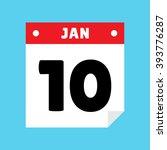 calendar icon flat january 10