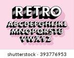 retro typography/font vector/illustration   Shutterstock vector #393776953