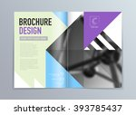 abstract vector brochure flyer...   Shutterstock .eps vector #393785437
