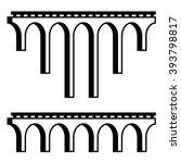vector classical viaduct bridge ... | Shutterstock .eps vector #393798817