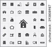 simple home icons set.... | Shutterstock .eps vector #393808987