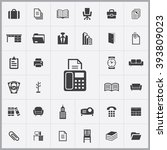 simple office icons set....
