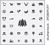 simple nature icons set....