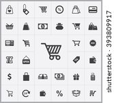 simple shopping icons set....