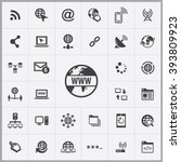 simple internet icons set.... | Shutterstock .eps vector #393809923