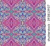 seamless bohemian pattern.... | Shutterstock . vector #393813937