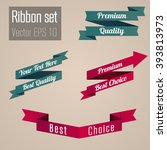 set of the vintage ribbons in... | Shutterstock .eps vector #393813973