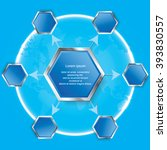 hexagon six step cycle arrows...   Shutterstock .eps vector #393830557