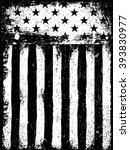 stars and stripes. monochrome... | Shutterstock . vector #393830977