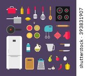 set of vector icons and... | Shutterstock .eps vector #393831907