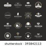 vintage logos design templates...   Shutterstock .eps vector #393842113