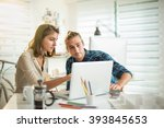creative team working in a... | Shutterstock . vector #393845653