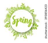 spring lettering design... | Shutterstock .eps vector #393856423