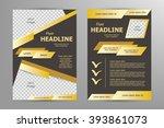 vector flyer template design.... | Shutterstock .eps vector #393861073