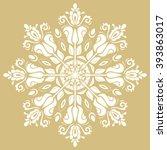 elegant vector white ornament... | Shutterstock .eps vector #393863017