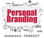 advertising concept  personal... | Shutterstock . vector #393863227